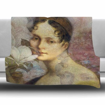 Magnolia Dream by Suzanne Carter Fleece Blanket Size: 80 L x 60 W