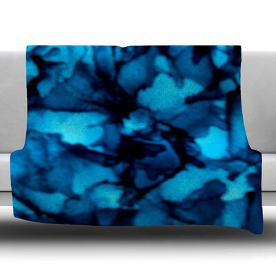 Teal by Claire Day Fleece Blanket Size: 80 L x 60 W