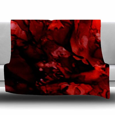 Dark Red by Claire Day Fleece Blanket Size: 80 L x 60 W