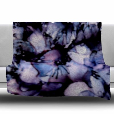 Violet by Claire Day Fleece Blanket Size: 80 L x 60 W