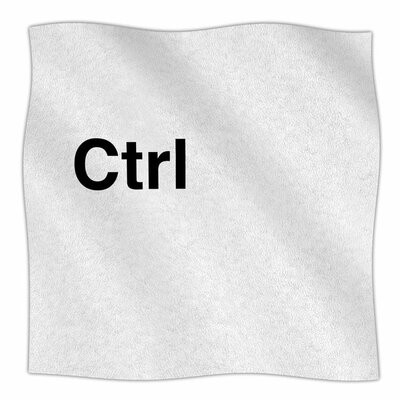 Ctrl by Jackie Rose Fleece Blanket Size: 80 L x 60 W