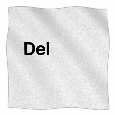Delete by Jackie Rose Fleece Blanket Size: 80 L x 60 W