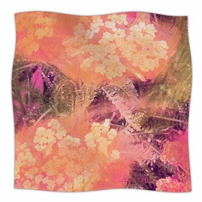 Wildflowers by Nina May Fleece Blanket Size: 80 L x 60 W