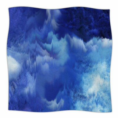 Saltwater Collage by Nina May Fleece Blanket Size: 80 L x 60 W