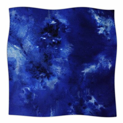 Saltwater Diamond by Nina May Fleece Blanket Size: 80 L x 60 W