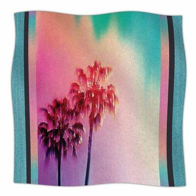 LA Rainbow by Nina May Fleece Blanket Size: 80 L x 60 W
