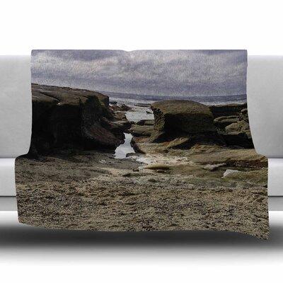 Stones Leading To Ocean by Nick Nareshni Fleece Blanket Size: 80 L x 60 W