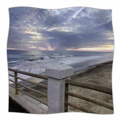 Oceanside Pier at Sunset by Nick Nareshni Fleece Blanket Size: 80 L x 60 W