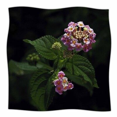 Lantana Flower by Nick Nareshni Fleece Blanket Size: 80 L x 60 W