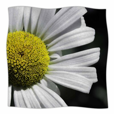 Open Daisy by Nick Nareshni Fleece Blanket Size: 80 L x 60 W