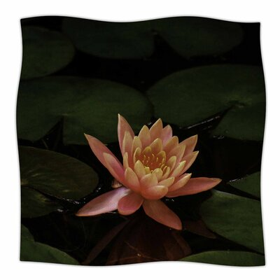 Lily Pad Flower by Nick Nareshni Fleece Blanket Size: 80 L x 60 W