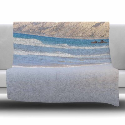 California Beach by Sylvia Coomes Fleece Blanket Size: 80 L x 60 W