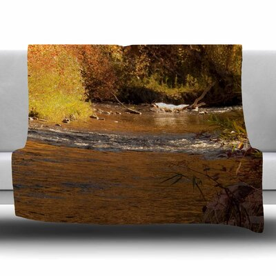 Autumn Stream by Sylvia Coomes Fleece Blanket Size: 80 L x 60 W