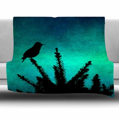Bird Silhouette by Sylvia Coomes Fleece Blanket Size: 80 L x 60 W