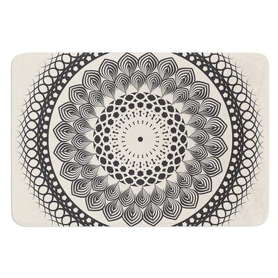Boho Mandala by Famenxt Bath Mat Size: 17W x 24L