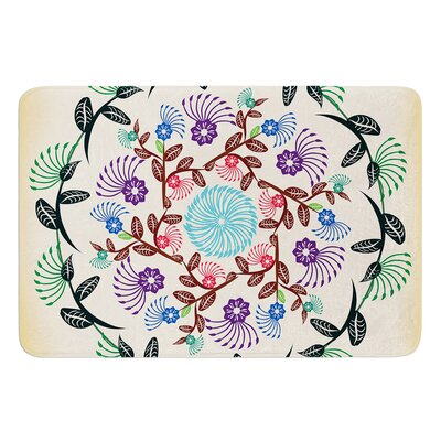 Nature Mandala by Famenxt Bath Mat Size: 17W x 24L
