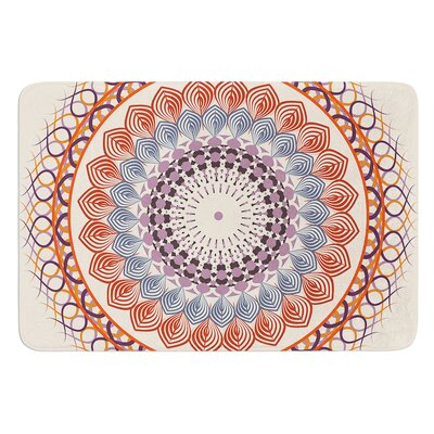 Vintage Mandala by Famenxt Bath Mat Size: 17W x 24L