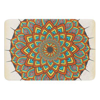 Floral Mandala by Famenxt Bath Mat Size: 24 W x 36 L
