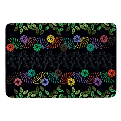 Dark Jungle Pattern by Famenxt Bath Mat Size: 24 W x 36 L