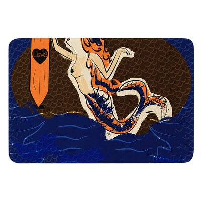 Mermaid by Famenxt Bath Mat Size: 24 W x 36 L