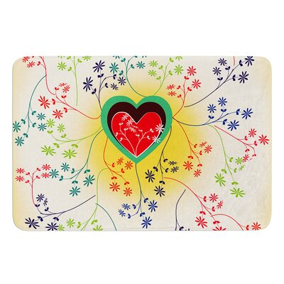Romantic by Famenxt Bath Mat Size: 24 W x 36 L