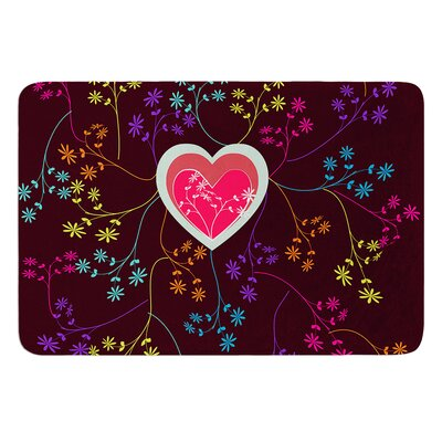 Love Heart by Famenxt Bath Mat Size: 24 W x 36 L