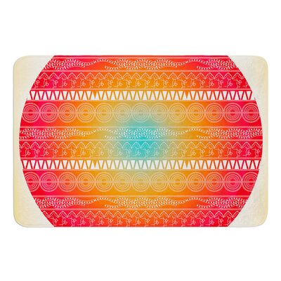 Romantic Pattern by Famenxt Bath Mat Size: 17W x 24L