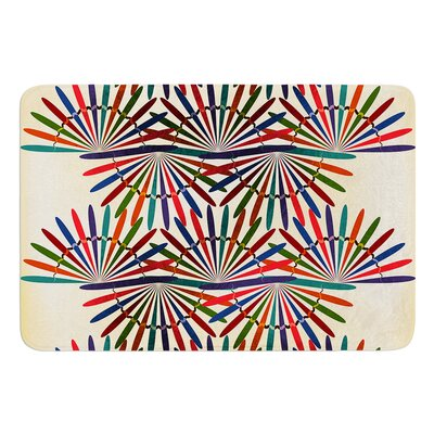 Colorful Abstract Pattern by Famenxt Bath Mat Size: 17W x 24L