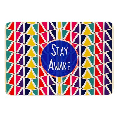 Stay Awake by Famenxt Bath Mat Size: 17W x 24L