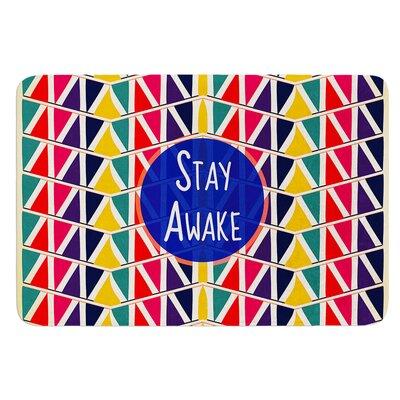 Stay Awake by Famenxt Bath Mat Size: 24 W x 36 L