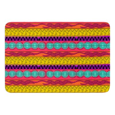 Pattern Watercolor Colorful by Famenxt Bath Mat Size: 24 W x 36 L