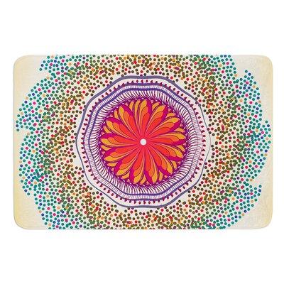 Confetti Dots Mandala by Famenxt Bath Mat Size: 24 W x 36 L