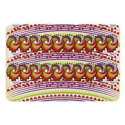 Colorful Traditional Pattern by Famenxt Bath Mat Size: 24 W x 36 L