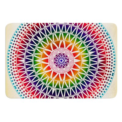 Colorful Vibrant Mandala by Famenxt Bath Mat Size: 24 W x 36 L