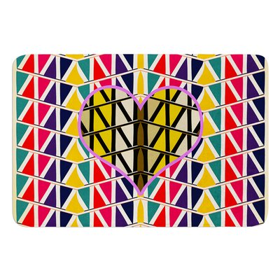 Heart in Abstract Pattern by Famenxt Bath Mat Size: 17W x 24L