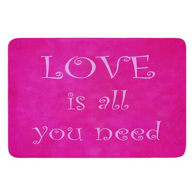 Love is all you need by Iris Lehnhardt Bath Mat Size: 17W x 24L