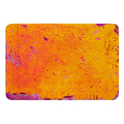 Orange Purple by Iris Lehnhardt Bath Mat Size: 17W x 24L