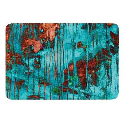 Rusty Teal by Iris Lehnhardt Bath Mat Size: 24 W x 36 L