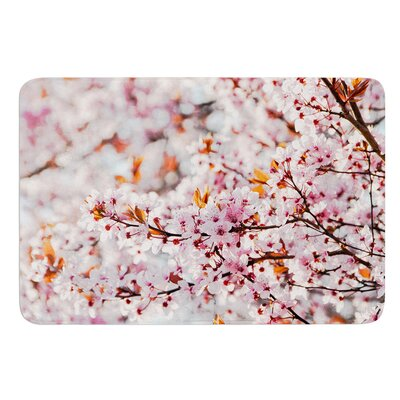 Flowering Plum Tree by Iris Lehnhardt Bath Mat Size: 17W x 24L
