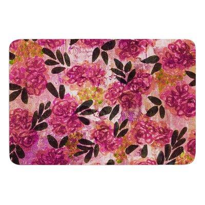 Grunge Flowers II by Ebi Emporium Bath Mat Size: 24 W x 36 L