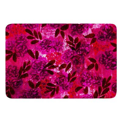 Grunge Flowers IV by Ebi Emporium Bath Mat Size: 24 W x 36 L
