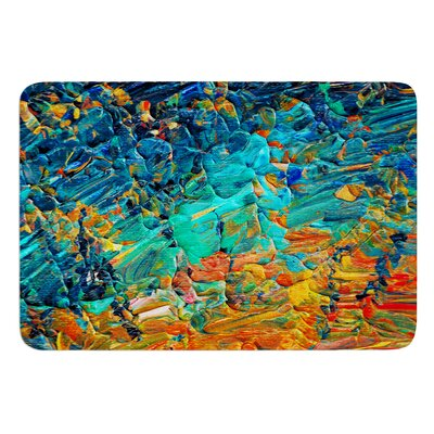 Eternal Tide II by Ebi Emporium Bath Mat Size: 17 W x 24 L