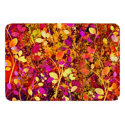 Amongst the Flowers Warm Sunset by Ebi Emporium Bath Mat Size: 17