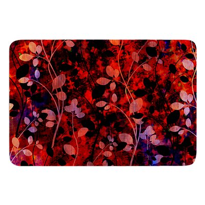Amongst the Flowers Summer Nights by Ebi Emporium Bath Mat Size: 17 W x 24 L