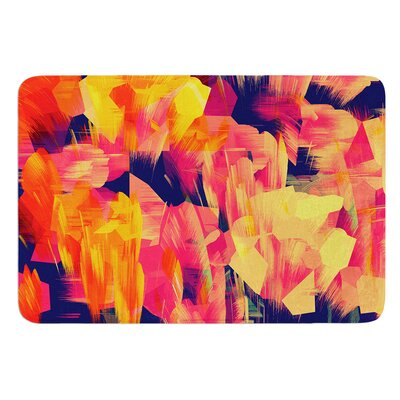 Geo Flower by Kathryn Pledger Bath Mat