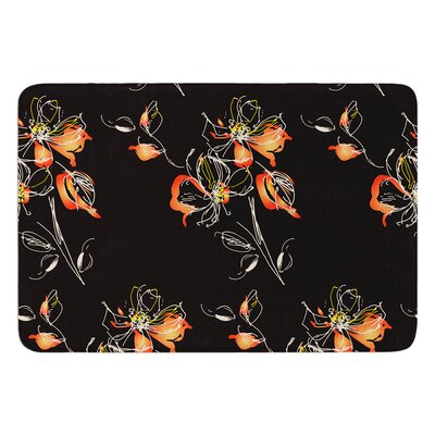 Blackflower by Louise Bath Mat