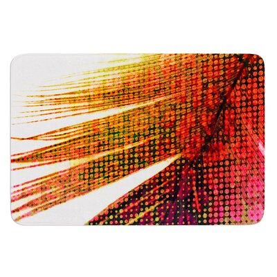 Feather Pop by Alison Coxon Bath Mat Size: 17W x 24L