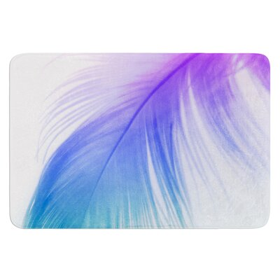 Feather Colour by Alison Coxon Bath Mat Size: 24 W x 36 L