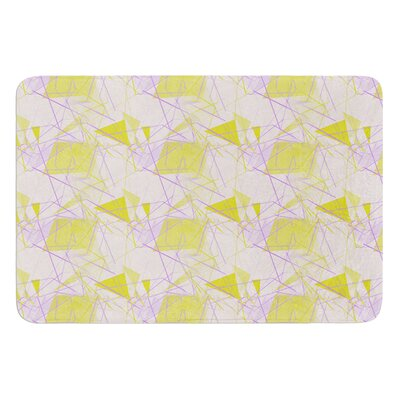 Yellow by Alison Coxon Bath Mat Size: 17W x 24L