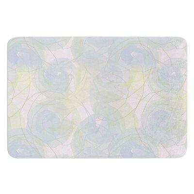 Paper Flower by Alison Coxon Bath Mat Size: 17W x 24L